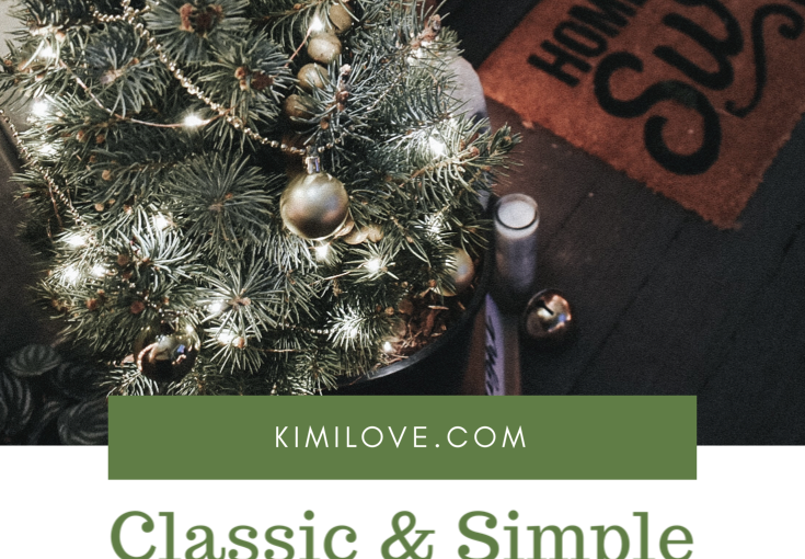 Classic & Simple Christmas PorchMakeover