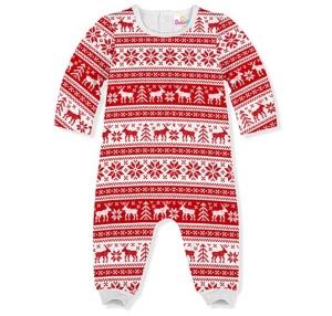 Infant Red White Fair isle Playsuit onesie