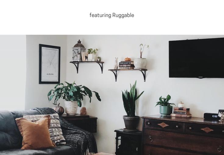Mom Life Hack: Machine Washable Rugs featuringRuggable